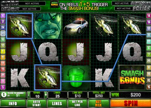 The Hulk - a popular marvel slot machine