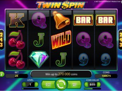 Twin SPin fruit machine screenshot